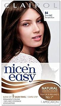Nice N Easy tinte de pelo castaño oscuro y rico R4: Amazon.es ...