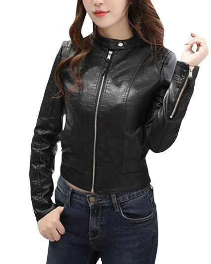 Veste jean manche simili cuir femme