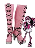 Telacos Monster High Draculaura Cosplay Shoes Boots Custom Made