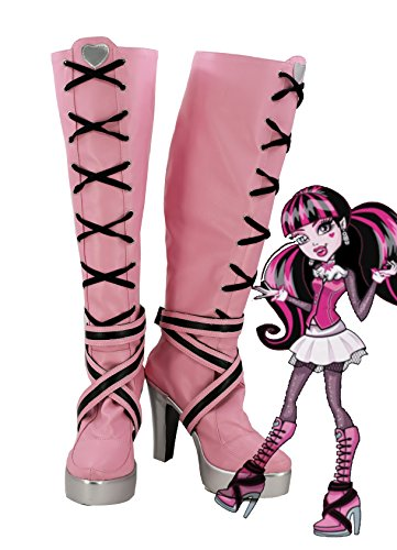 Telacos Monster High Draculaura Cosplay Shoes Boots Custom Made -