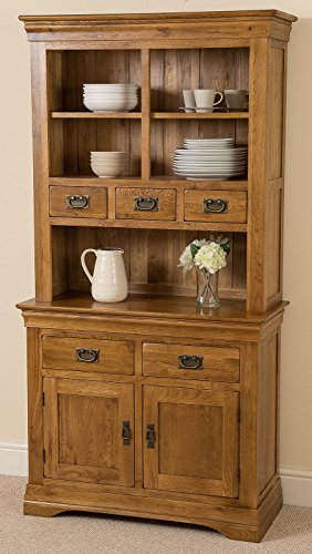 FRENCH RUSTIC SOLID OAK SMALL WELSH DRESSER CABINET WALL UNIT