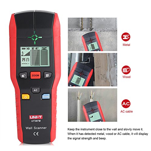 Professional Wall Scanner Digital Handheld Detector Finder Wood Metal AC Cable Electric Wire Detecting Tool by Fdit (Image #3)