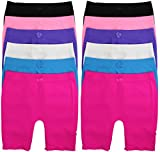 ToBeInStyle Girl's Pack of 12 Long Boyshorts (Large, Solid Colors 2)