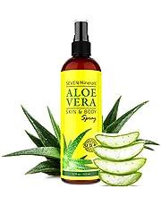 Aloe Vera SPRAY für Haut - 99% Bio, 355 ml - 100% Natürlich, Rein & Ohne Zusatzstoffe - Extra Stark - OHNE VERDICKUNGSMITTEL- zieht schnell ein ohne Rückstände - aus ECHTEM SAFT, NICHT PULVER