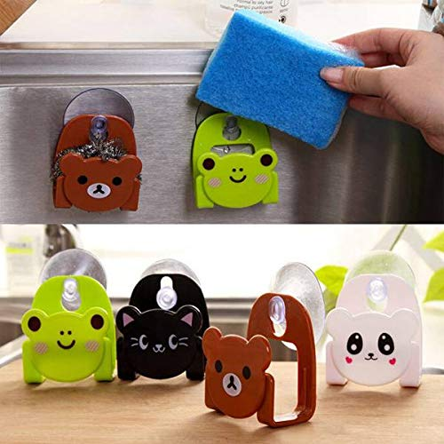 Shelf Clip - 1pc Popular Cute Animal Wall Mounted Bathroom Shelves Sponge Suction Drying Holder Racks - Metal Wire Cabinet Labels Labelholder Shelving Plastic Holder Label For