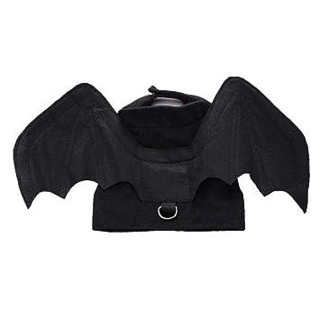 Là Vestmon Disfraz Gatos y Perros, Mascotas Disfraces Ropa Calabazas de Halloween Gato Alas de murciélago Disfraz de Gato murciélago para Gato Cachorro: ...