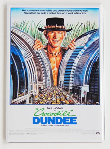 - Crocodile Dundee Movie Poster Fridge Magnet (2.5 x 3.5 inches)