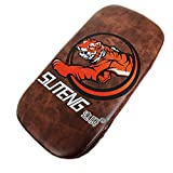 Boxing hand wraps Gloves Pads for Muay Thai Kick Boxing Mitt MMA Training PU foam boxer hand target Pad size about 402010cm Brown