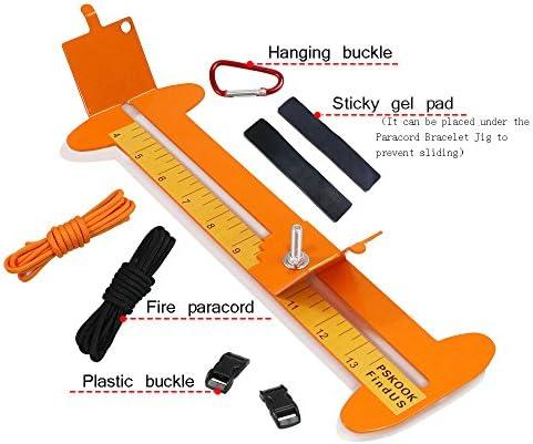 Professional Paracord Bracelet Jig Kit Paracord Tool Kits Weaving DIY Maker Tool