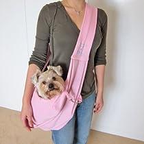 Dogloveit Chico Reversible Pet Sling Carrier, Pink