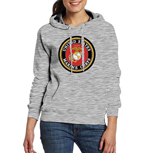 CXHKJ USMC-Eagle Globe and ANCHOR100% Cotton Woman Hoodies Graphic Sweatshirts with Pocket (Sweatshirt Pullover Hood Usmc)