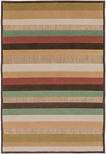 Artistic Weavers Portera PRT-1003 Contemporary Machine Made 100 Olefin Bronze 4 7 x 6 7 Geometric Area Rug
