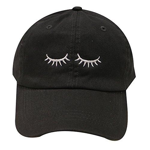 (City Hunter C104 Eyelashes Cotton Baseball Cap 14 Colors (Black))