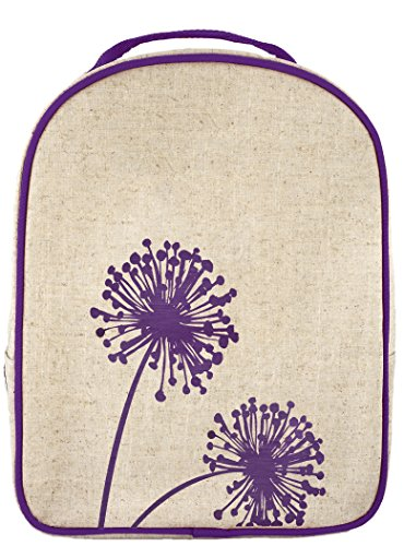 SoYoung Toddler Lunch Box Dandelion - Raw Linen, Purple