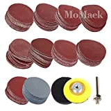 "200pcs 2 Inch Sanding Discs Pad Kit with 1/4"" Shank Backing Pad and 1 pc Soft Foam Buffering Pad for Drill Grinder Rotary Tools Includes 80-3000 Grit Sandpapers, 10 Different Grits"