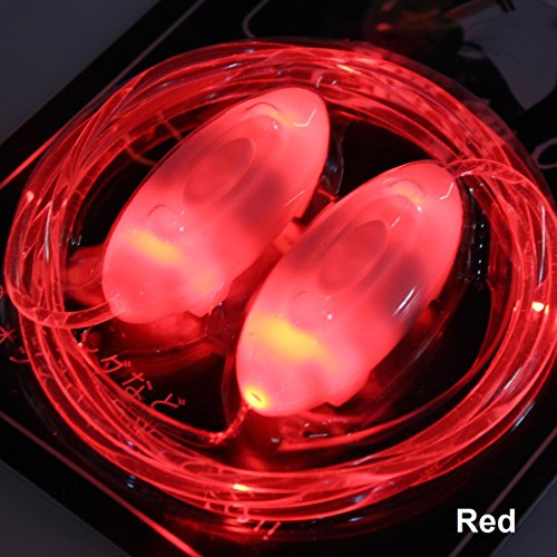 3-Mode LED Flashing Light Up Shoelaces Glow Lighting Shoestring for Party Disco Dancing Hip-hop (Red)