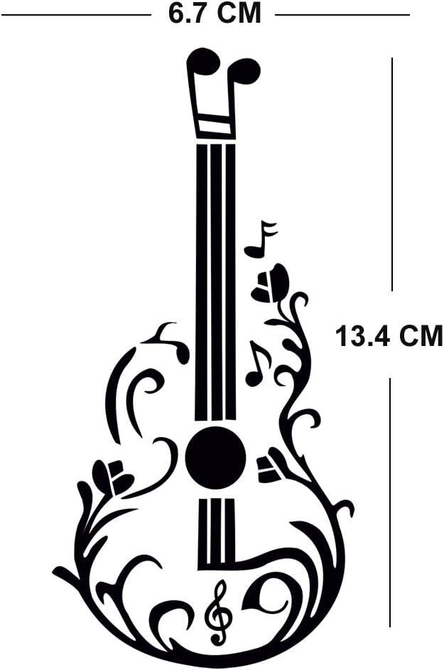TENNER.LONDON Notas musicales Guitarra Plancha en serigrafía Tela ...