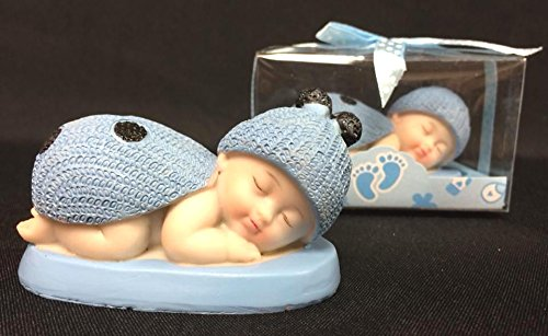 36 Baby Shower Blue Ladybug Favor Cake Topper W Box Gift Keepsake