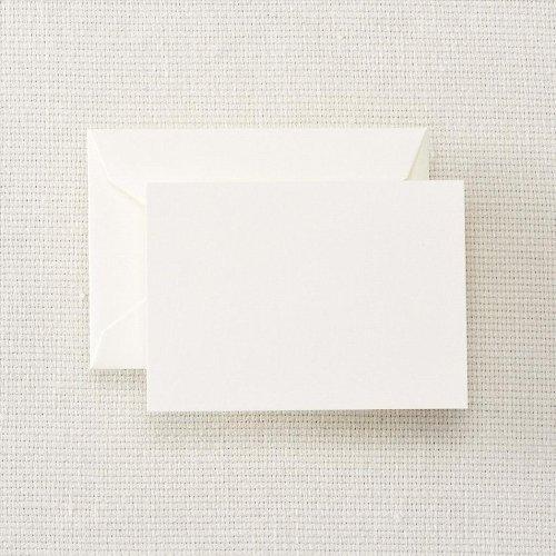- Crane & Co. Pearl White Enclosure / Escort Card & Envelope