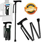 Kitchen Krush Canes and Walking Sticks for Men and Women Travel Adjustable Folding Walking Cane best Mobility Aids For Seniors Disabled and Elderly