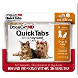Dog & Cat MD QuickTabs Safe Nitenpyram Oral Tablets 6 count for Dogs & Cats 2-25 lbs