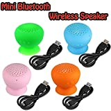 Mini Bluetooth Wireless Speaker Waterproof Hands Free Silicone Sucker Blue