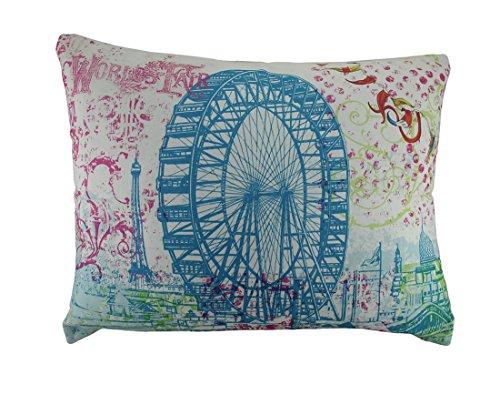 (Zeckos 19x24 in. Giant World's Fair Ferris Wheel Colorful Throw Pillow)
