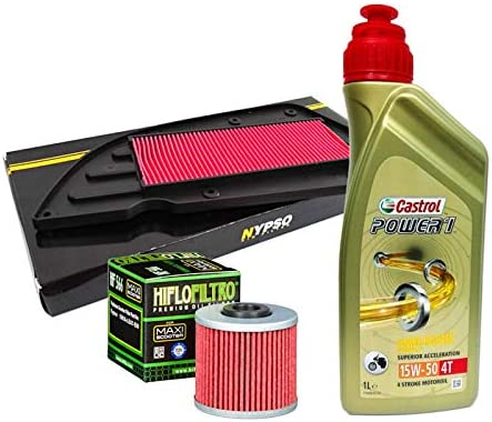 Kit revisión Castrol Power 1 15W50 filtro aceite aire Kymco K-XCT ...