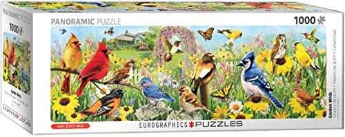 EuroGraphics (EURHR Garden Birds Panoramic by Greg Giordano 1000Piece Puzzle (Panorama) 1000Piece Jigsaw ()