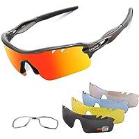 BangLong Gafas de Sol Polarizadas Con 5 Lentes UV400 Intercambiables y Monturas TR-90, Gafas…