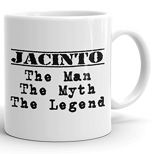 Best Personalized Mens Gift! The Man the Myth the Legend - Coffee Mug Cup for Dad Boyfriend Husband Grandpa Brother in the Morning or the Office - J Set 1