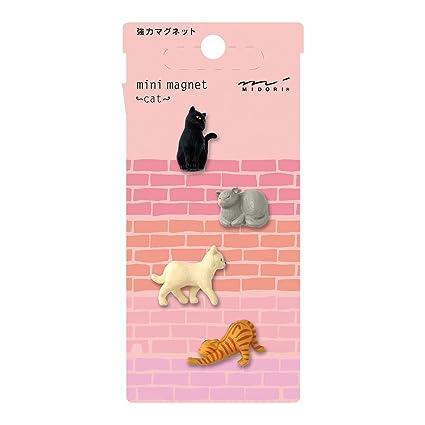 f5e85a25a576 Amazon.com : Midori Mini Magnet, Cats (49754006) : Office Products