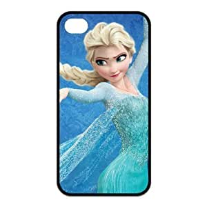 4s Case, iPhone 4 4s Case - Fashion Style New Cartoon Frozen Painted Pattern TPU Soft Cover Case for iPhone 4/4s(Black/white)