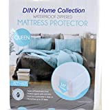 Queen Size Super Soft Waterproof Zippered Fabric Mattress Protector Bed Bug & Dust Mite Control Extra Wide 16-inch Deep Pocket