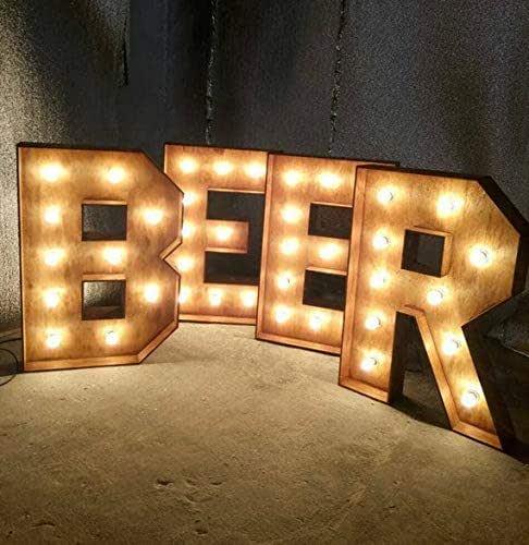 Amazon.com: CUSTOM Beer Bar sign lights marquee light up