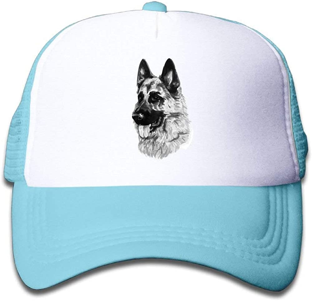 TCJX Mesh Baseball Cap Girl German Shepherd Dog Classic Adjustable