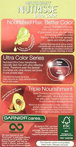 Garnier Nutrisse Ultra Color Nourishing Hair Color Creme, Light Intense Auburn, 3 Count  (Packaging May Vary) by Garnier (Image #3)