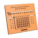 GKD Motivational Quote 3D Desk Table Calender 2020 to Lifetime Infinite Calendar Wooden 2020 for Office Home New Year Gift Items