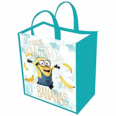 Unisex-Adult Minions Reusable Shopping Tote Or Halloween Trick Or Treat Bag - Set Of 3: Bananas, Party, Hanging