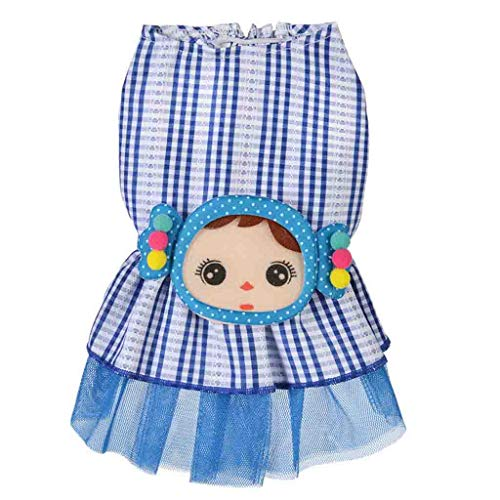 Smdoxi Summer cat Dog Dress New Cute Spinning Side Stitching Cartoon Embroidery lace Bow Dress