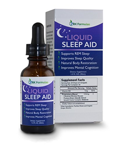Liquid Sleep Aid by RK Formulas • All Natural • Melatonin Plus Other Active Ingredients • Non Habit Forming • Promotes Deep Sleep Patterns while Reducing Stress Levels