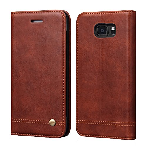 Galaxy S7 Active Case[Not for Galaxy S7],RUIHUI Luxury Flip Leather Wallet Shockproof Protective TPU Bumper Full Case with Magnetic Closure,Card Slots and Kickstand for Samsung Galaxy S7 Active(Brown)