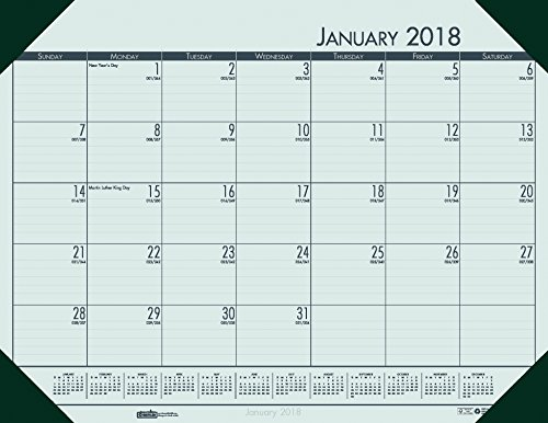 Desk Blotter Refill (House of Doolittle 2018 Monthly Desk Pad Calendar, EcoTones, Green Paper, 22 x 17 Inches, January - December (HOD12471-18))