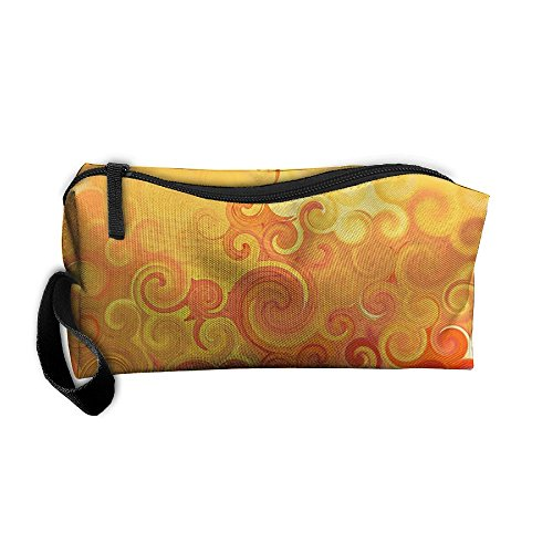 Swirls Circles Colors Art Storage Tools Canvas Zipper Multi-function Organization Bag With - Zipper Swirl