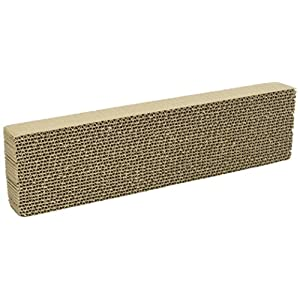 WARE Single Wide Corrugated Replacement Scratcher Pads for Cats (2-pack) - Catnip Included