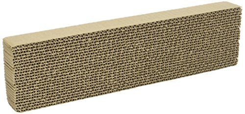 WARE Single Wide Corrugated Replacement Scratcher Pads for Cats (2-pack) - Catnip Included (Scratcher Refill)