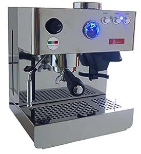Máquina de café espresso Acopino Milano de acero inoxidable con molinillo de café