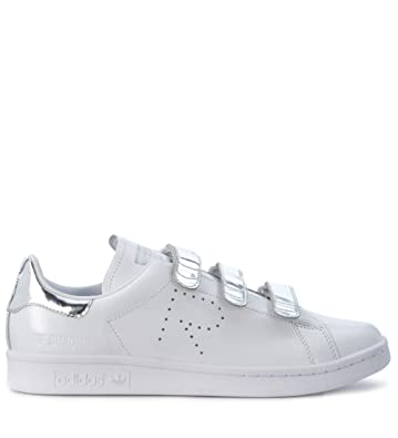 promo code a8664 5f246 Adidas x Raf Simons Mens Sneaker Stan Smith Comfort In Pelle Bianca  Argento 9,5