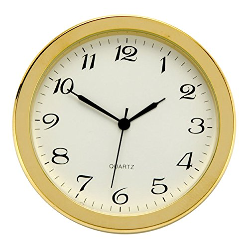 Brass Fit-Up, Arabic Numbers, White Dial, 50mm (White Plain Dial Arabic)
