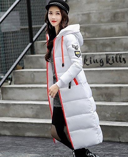 Outwear capa Delgado del rodilla abajo gruesa Blanco Mujeres algodón Puffer COMVIP acolchado hacia Bvwpg